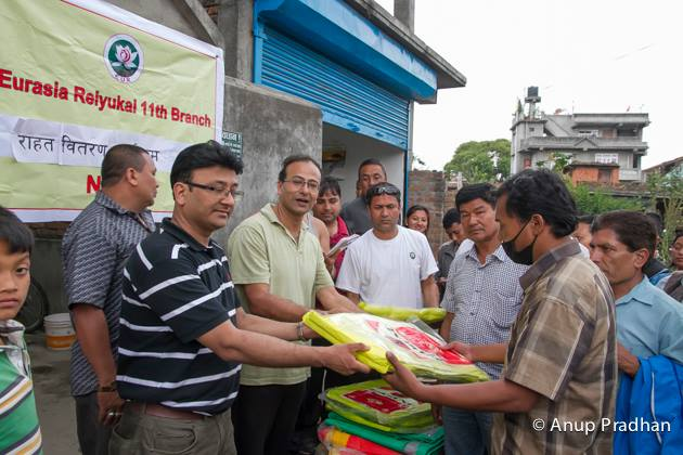 Relief fund collection for Earth Quake Victims of Nepal in Nepal